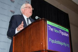 Sen. Bernie Sanders speaks at The New Populism Conference.
