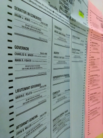 Sample ballots for the town of Charlton.