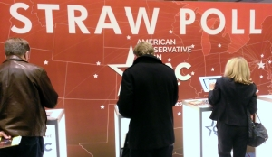 Participants vote in the famous CPAC straw poll.