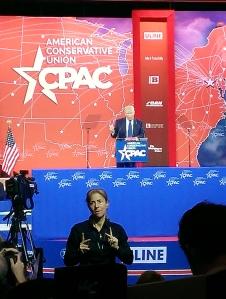 Donald Trump addresses CPAC.