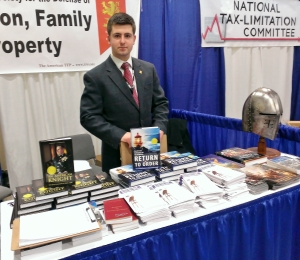 The American Society for the Defense of Tradition, Family, and Property is one of many groups that have booths in The Hub.